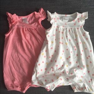 Bundle of 2 baby girl rompers